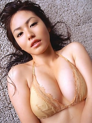 Sayaka Isoyama teases the camera with her beautiful breasts